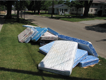 Mattress disposal and recycling